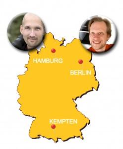 Nikolaj und Sven Deutschlandkarte